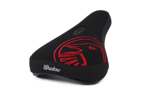 Shadow Crow Mid Seat - Black With Red Embroidery